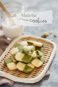Matcha cookies #Matcha cookies, #Matcha Checkerboard Cookies