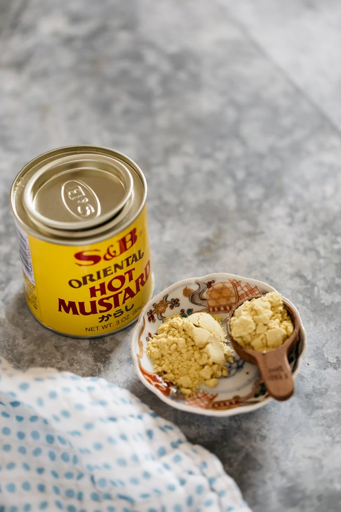 Oden condiments-Japanese hot mustard powder in a tin