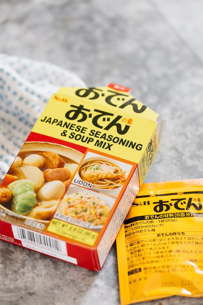 Oden seasoning mix powder packets