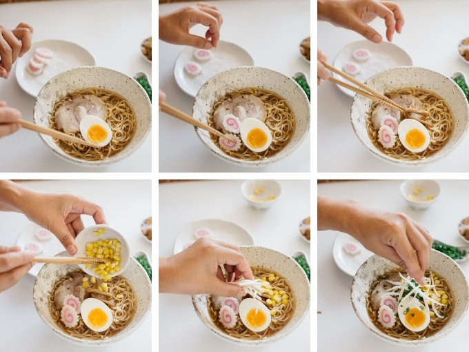 The last 6 steps of making Shoyu Ramen in 6 photos