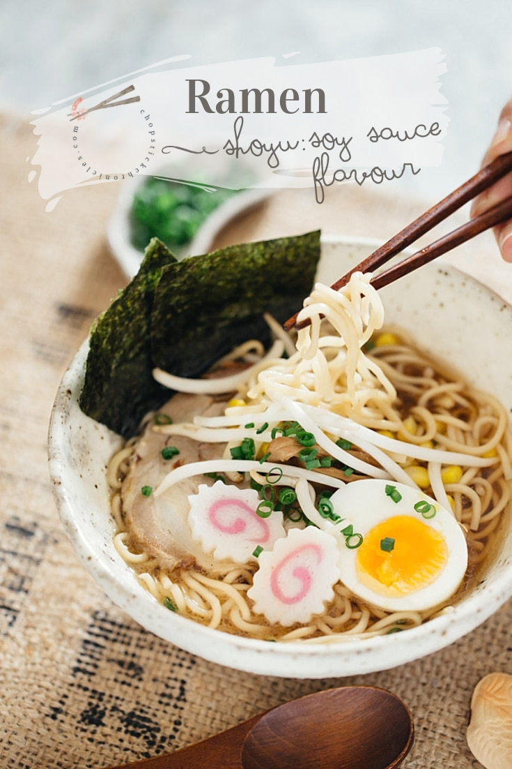 #Shoyu ramen Shoyu ramen is one of Japan's famous ramen flavours made from a soy sauce based soup! The easiest recipe to make this delicious Ramen in 10 minutes or less.