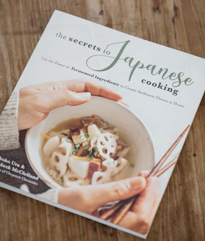 The secret to Japanese cooking cookbook on the table