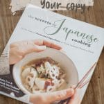 The secret to Japanese cooking which we wrote on the table