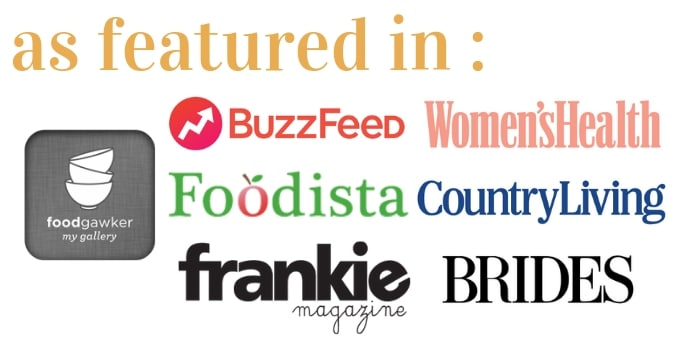 As featured in food gawker, buzzfeed, women's health, foodista, country living, frankie magazine, brides