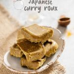 Homemade Japanese curry roux pieces