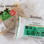Shirataki noodle packet and Ito konnyaku packet
