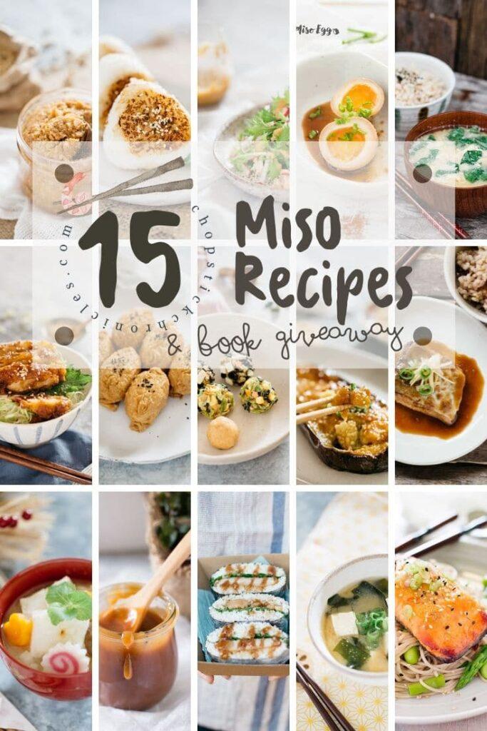 15 miso recipes photo collage