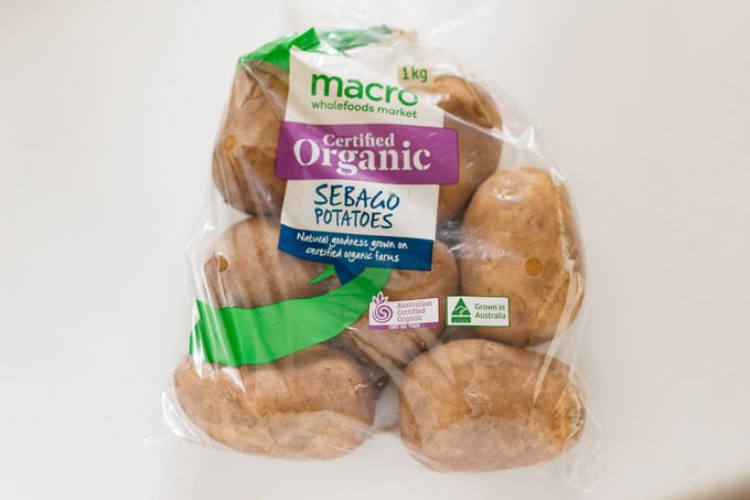 segabo variety potatoes in a plastic bag