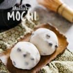 Two daifuku mochi served on a plate