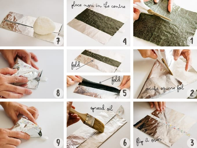9 photo instructions for making convenience store style wrapping