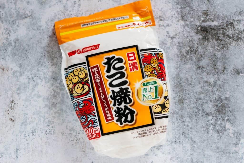 a takoyaki flour mix packet