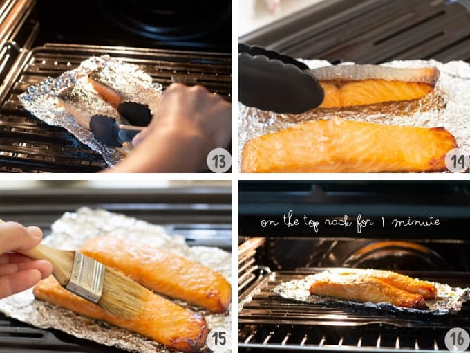 baking/broiling miso glazed salmon in oven