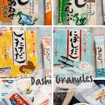 6 different types of Dashi granules