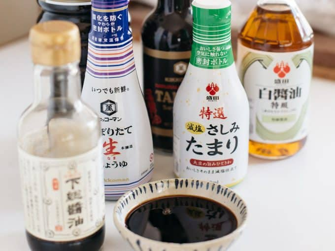 6 different soy sauce bottles