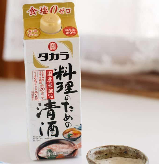 Cooking sake carton