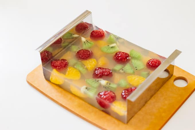 Kanten Fruit Jelly in a mold