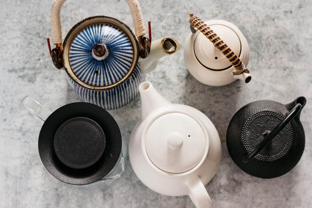5 different types of tea pots