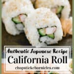 California Roll image collage with text overlay for Pinterest share