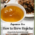 Hojicha image collage for pinterest
