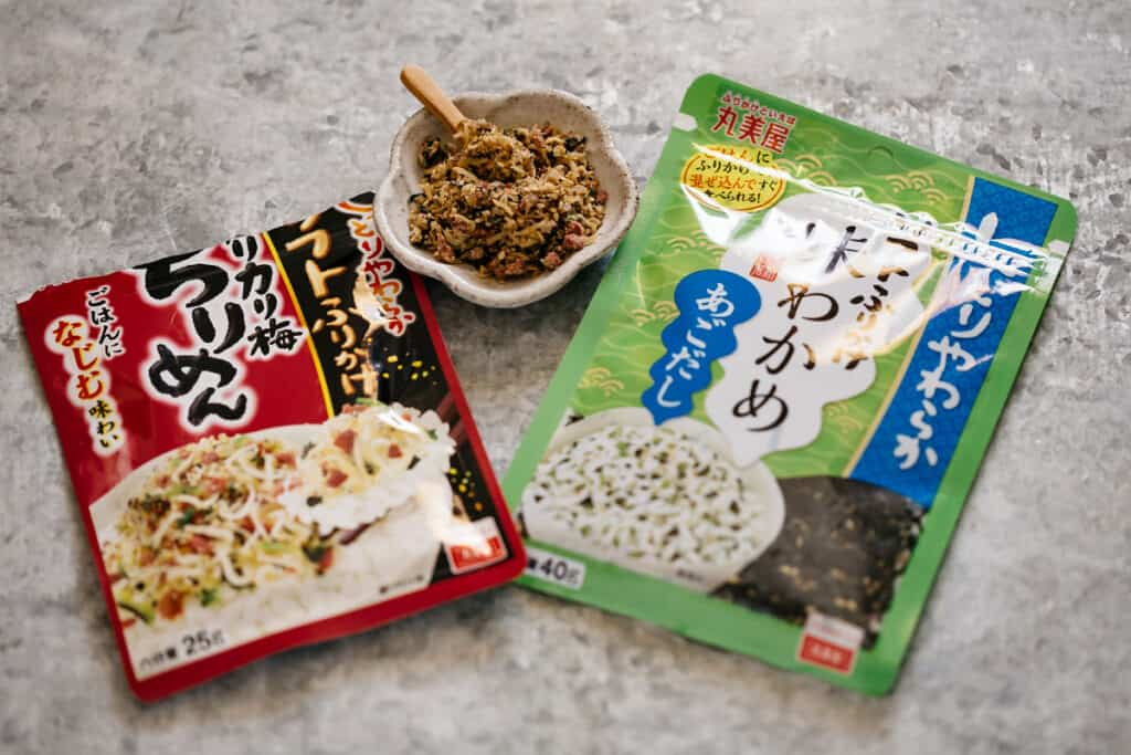 two soft furikake commercially made packets