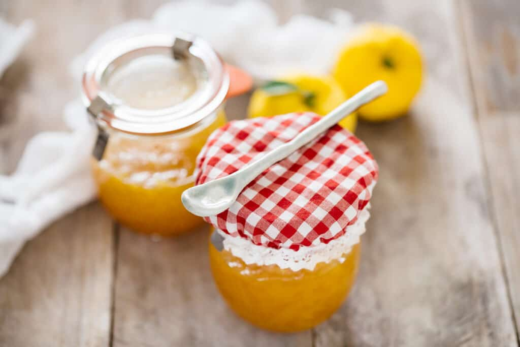 yuzu marmalade in preserving jars