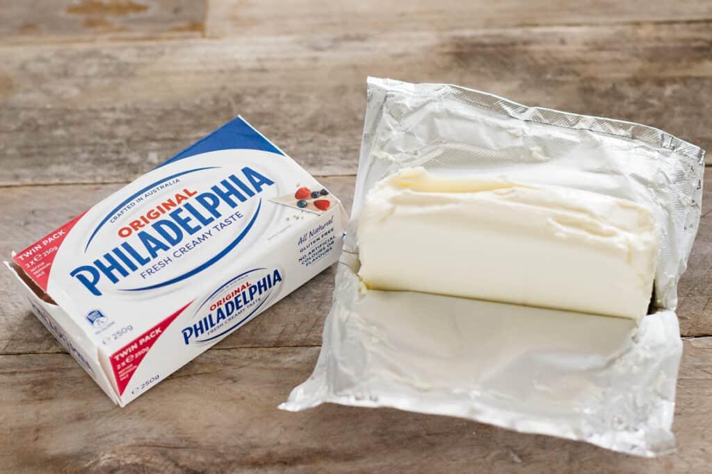 Philadelphia cream cheese package